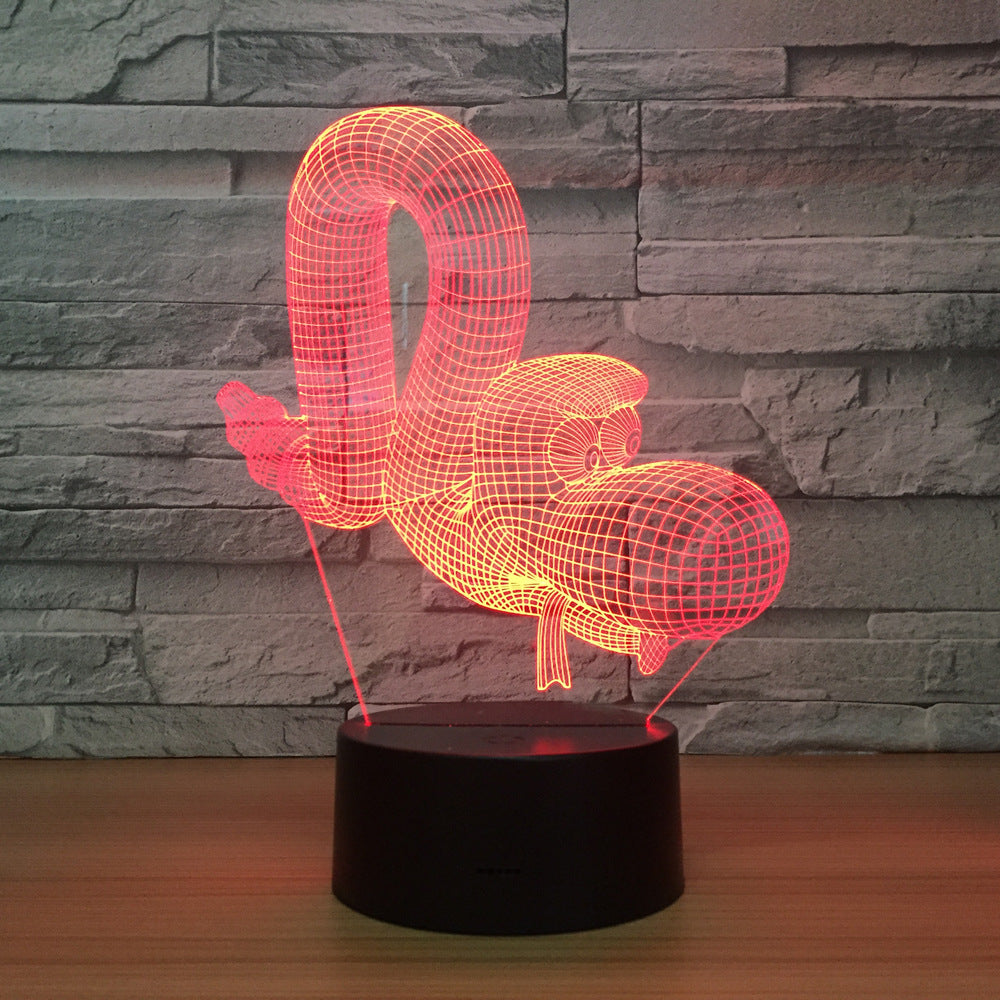 Caterpillar LED Lamp Smart Home 3d Lights Colorful Touch Control Led Night Simple Fashion Birthday Atmosphere Kids Decor Lights