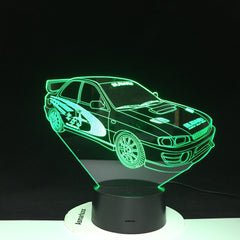 Racing Car 3D Lamp Multi-color with Remote for Birthday Gift Battery Powered Lava Optical Led Night Light Lamp Hologram 3237