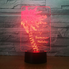 Summer Holiday Coconuts Tree Shape 3d lamp Table Lamp Acrylic Creative Decorations Bedroom Sleeping Nightlight Gift Dropshipping