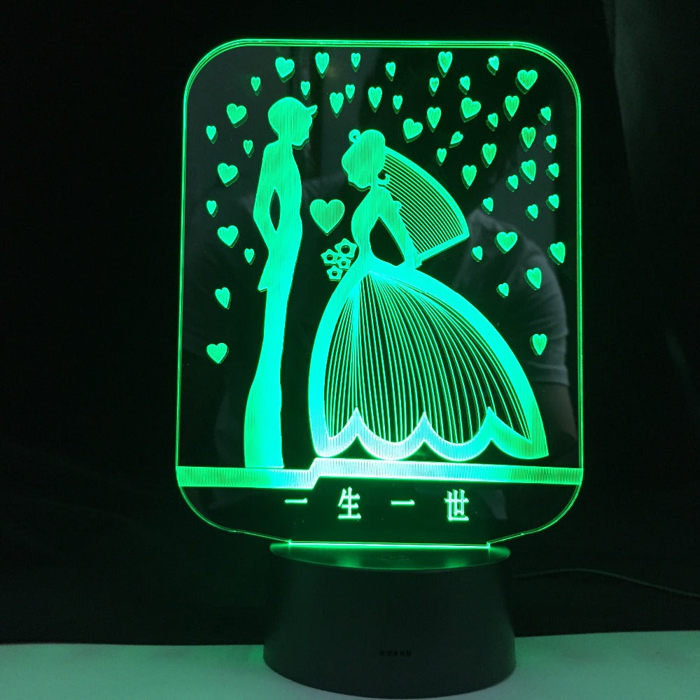 3D Led Night Light Valentine I Love U Usb Touch Remote Control 7 Colors Changable Glow In The Dark Toys Christmas Marry Gift