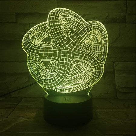 Abstract 1- 3D Optical Illusion LED Lamp Hologram
