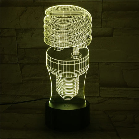 Lamp shape- 3D Optical Illusion LED Lamp Hologram