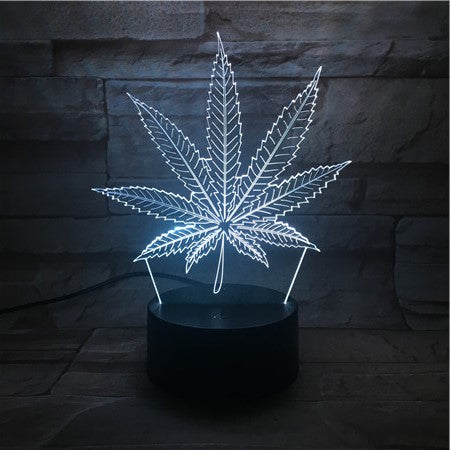 Plant 1- 3D Optical Illusion LED Lamp Hologram