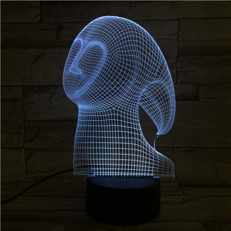 Face 1 - 3D Optical Illusion LED Lamp Hologram