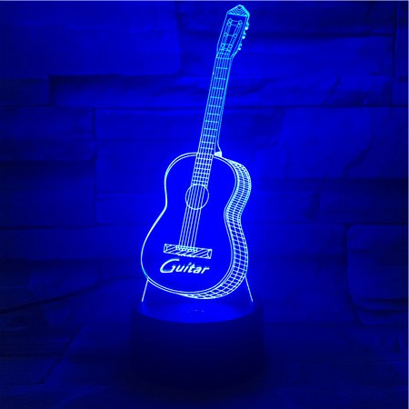 Guitar 1 - 3D Optical Illusion LED Lamp Hologram