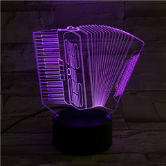 Accordion - 3D Optical Illusion LED Lamp Hologram