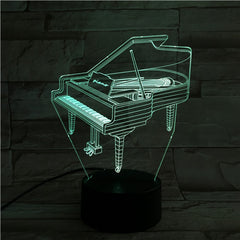 Piano - 3D Optical Illusion LED Lamp Hologram