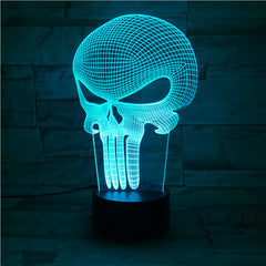 Punisher - 3D Optical Illusion LED Lamp Hologram