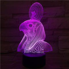 Egypt God - 3D Optical Illusion LED Lamp Hologram