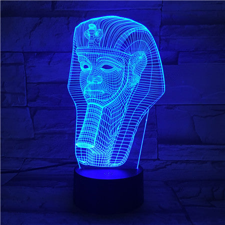 Egypt God 2 - 3D Optical Illusion LED Lamp Hologram