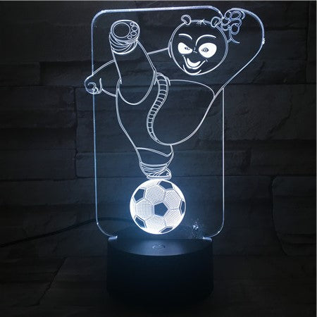 Panda on Ball - 3D Optical Illusion LED Lamp Hologram