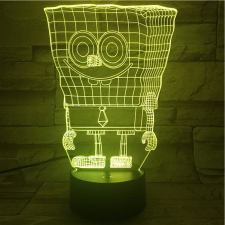 Sponge Bob - 3D Optical Illusion LED Lamp Hologram