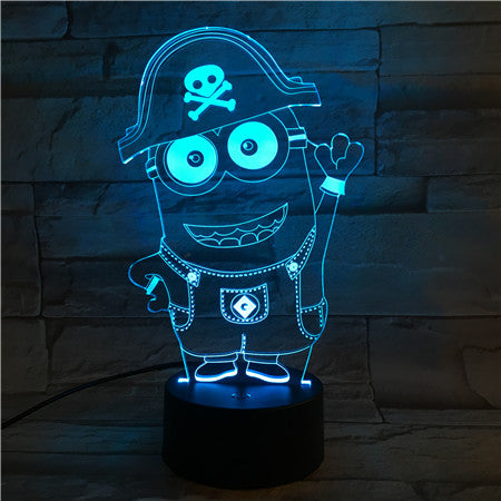 Mini Pirate - 3D Optical Illusion LED Lamp Hologram