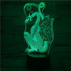 Dragon - 3D Optical Illusion LED Lamp Hologram