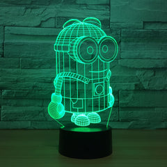 Cartoon Cute 3D Minions LED Night Light Desk Table Lamp 7 Colors Touch Switch Colorful For Child Baby Birth Christma Gift