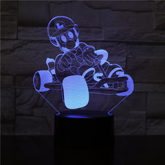 Budget Deal Mario Racing 7/16 Colors Chang 3D LED Night Light Sleep Bedroom Decor Lamp Love Valentines Gift Dropship 3D-2493