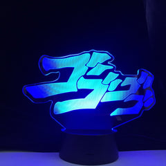 JoJo's Bizarre Anime Adventure Letter Design Led Night Light Touch Sensor Colorful Nightlight for Home Decor Table 3d Lamp Gift