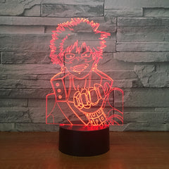 Naruto Figure 7 Color Change 3D Led Visual Modelling Anime Night Light Kids Touch Button Usb Table Lamp Home Decor Lighting Gift