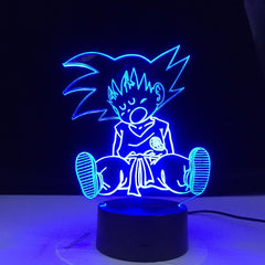 Baby Goku Sleep Figure Night Light for Bedroom Decoration 16 Colors Changing Usb Table 3d Lamp Dragon Ball Led Night Light Gift