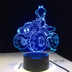 Anime Girl 3D Night Light LED Remote Touch Table Lamp 3D Lamp 7 Color Changing USB Baby Bedroom Sleeping Atmosphere lamp AW-3185