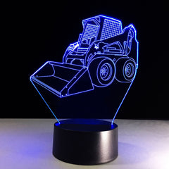 Forklift 3D Led Lamp with 7 Colors Change Touch USB Control Home Deco Light Best Birthday Gift Light For Children Family Friends
