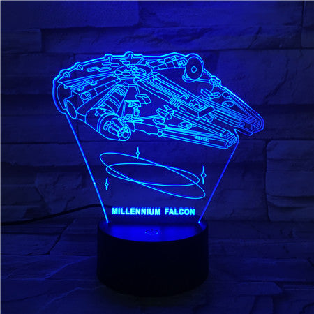Falcon - 3D Optical Illusion LED Lamp Hologram