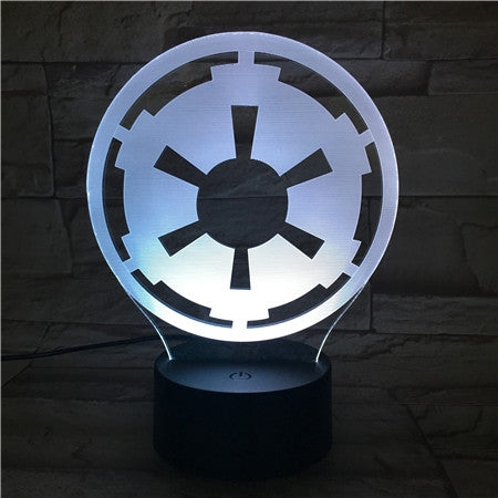 Gear- 3D Optical Illusion LED Lamp Hologram