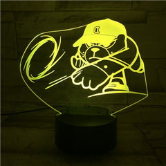 D Bear - 3D Optical Illusion LED Lamp Hologram