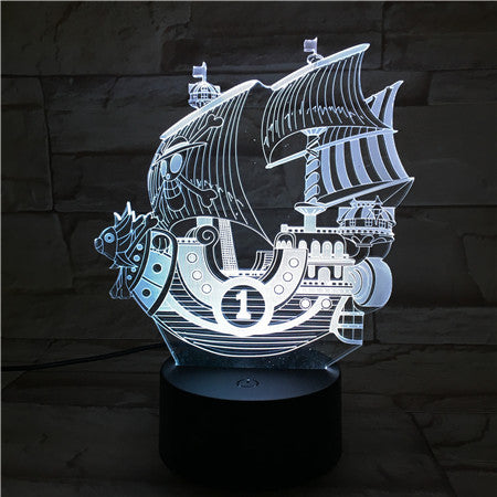 Pirate Ship - 3D Optical Illusion LED Lamp Hologram