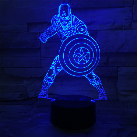 Captain  - 3D Optical Illusion LED Lamp Hologram