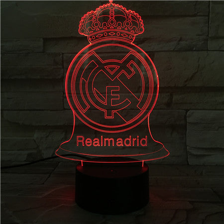 Real M  - 3D Optical Illusion LED Lamp Hologram