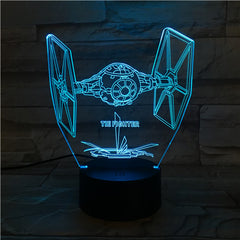 Fighter  - 3D Optical Illusion LED Lamp Hologram
