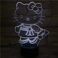 Kitty  - 3D Optical Illusion LED Lamp Hologram