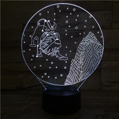 Leo  - 3D Optical Illusion LED Lamp Hologram