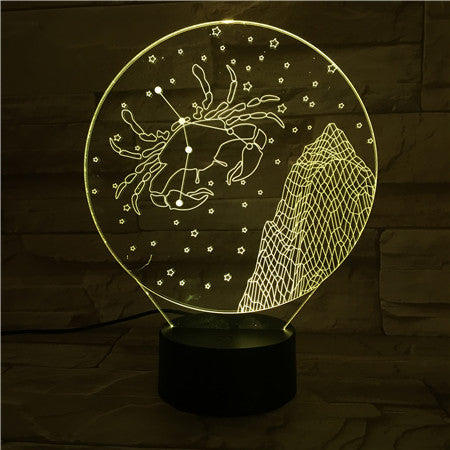 Cancer  - 3D Optical Illusion LED Lamp Hologram