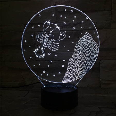Scorpio  - 3D Optical Illusion LED Lamp Hologram