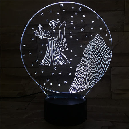 Virgo  - 3D Optical Illusion LED Lamp Hologram