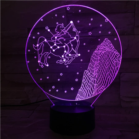 Sagittarius  - 3D Optical Illusion LED Lamp Hologram