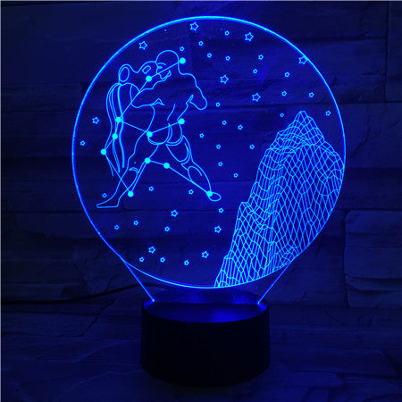 Aquarius  - 3D Optical Illusion LED Lamp Hologram