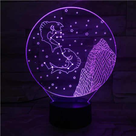Pisces - 3D Optical Illusion LED Lamp Hologram
