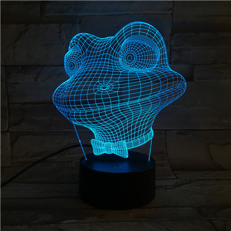 Frog - 3D Optical Illusion LED Lamp Hologram