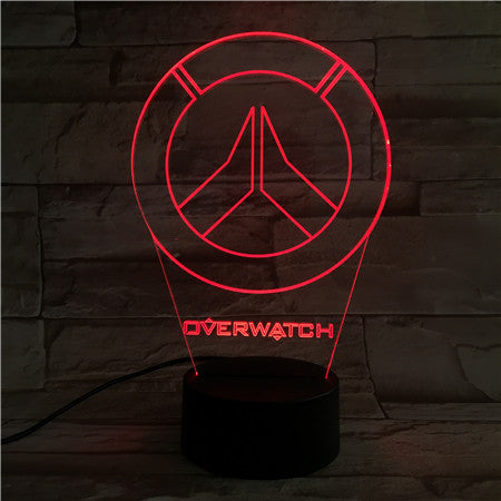 Overwatch - 3D Optical Illusion LED Lamp Hologram
