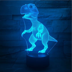 Standing Dino - 3D Optical Illusion LED Lamp Hologram