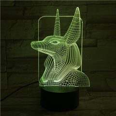 Egypt God 3 - 3D Optical Illusion LED Lamp Hologram