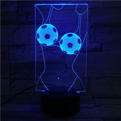 Football Bra - 3D Optical Illusion LED Lamp Hologram