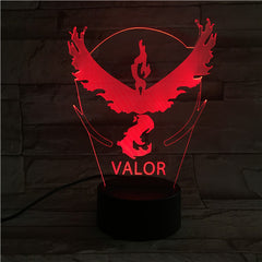 Valor - 3D Optical Illusion LED Lamp Hologram