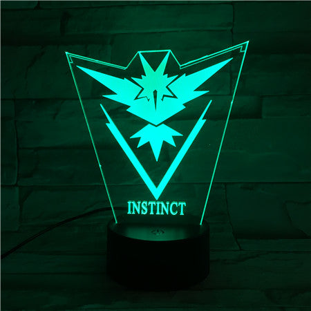 Instinct - 3D Optical Illusion LED Lamp Hologram