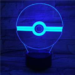 PokeBall - 3D Optical Illusion LED Lamp Hologram