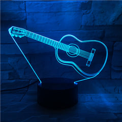 Guitar 2 - 3D Optical Illusion LED Lamp Hologram