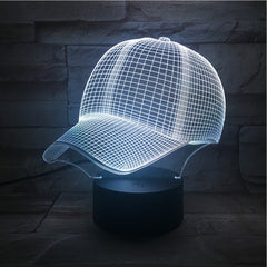 Baseball Hat- 3D Optical Illusion LED Lamp Hologram